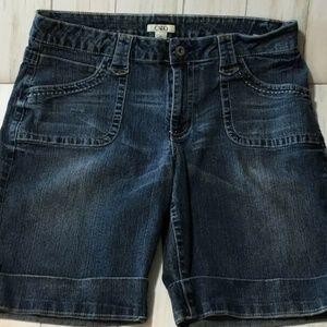 Cato Denim Shorts Embellished Pockets Sz 14